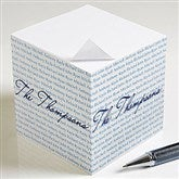 Family Is Forever Custom Paper Note Cube - 9161
