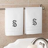 Linen Guest Towel Set - White