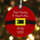 1-Sided Dear Santa Personalized Ornament - 9231-1