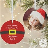 2-Sided Dear Santa Personalized Photo Ornament-Large - 9231-2L