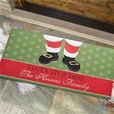 Santa Stop Here! Personalized Oversized Doormat-24x48 - 9248-O