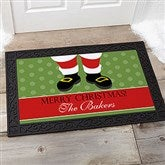 Santa Stop Here! Personalized Doormat- 20x35 - 9248-M