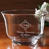 Anniversary Memento Personalized Crystal Bowl - 9291