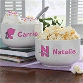 Girl Alphabet Animals© Personalized Stoneware Bowl - 9351