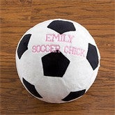 Personalized Plush Sport Pillow-Soccer Ball - 9378-D
