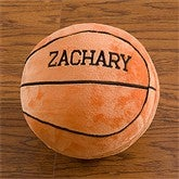 Personalized Plush Sport Pillow-Basketball - 9378-B