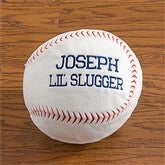 Personalized Plush Sport Pillow-Baseball - 9378-A