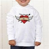 Heartbreaker Personalized Toddler Hooded Sweatshirt - 9388-CTHS