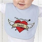 Heartbreaker Personalized Baby Bib - 9388-B