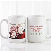 Christmas Photo Wishes Personalized Coffee Mug 15 oz.- White - 9426-L