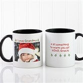 Christmas Photo Wishes Personalized Coffee Mug 11oz.- Black - 9426-B