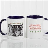 Christmas Photo Wishes Personalized Coffee Mug 11oz.- Blue - 9426-BL