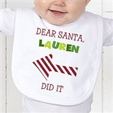 Dear Santa Personalized Infant Bib - 9427-B