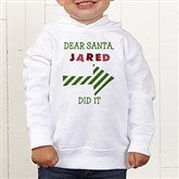 Dear Santa Personalized Toddler Hooded Sweatshirt - 9427-CTHS