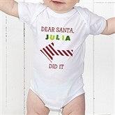 Dear Santa Personalized Baby Bodysuit - 9427-CBB