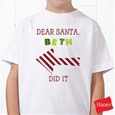 Dear Santa Personalized Hanes® Youth T-Shirt - 9427-YCT