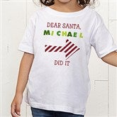 Dear Santa Personalized Toddler T-Shirt - 9427-TT