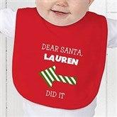 Dear Santa Personalized Baby Bib - 9427-B