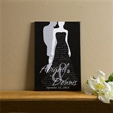 Bride & Groom Silhouette© Canvas Art - 12