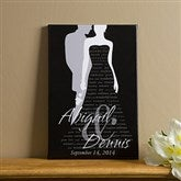 Bride & Groom Silhouette© Canvas Art - 16