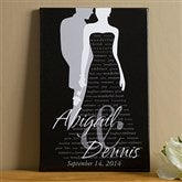 Bride & Groom Silhouette© Canvas Art - 24