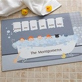 Bathtub Family Characters Collection Personalized Mat - 9450