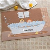 Bathtub Couple Characters Collection Personalized Mat - 9453