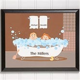 Bathtub Couple Characters Collection Personalized Plaque - 9455