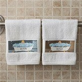 Bathtub Family Characters Collection© Personalized Hand Towel - 9490