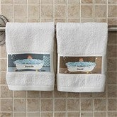 Bathtub Couple Characters Collection© Personalized Hand Towel - 9491