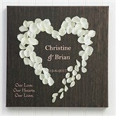 Heart of Roses Personalized Canvas Print-24