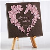 Heart of Roses Personalized Canvas Print-5½ x 5½ - 9535-5x5