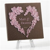 Heart of Roses Personalized Canvas Print-8