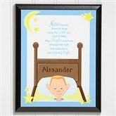 Bedtime Prayer© Personalized Character Wall Plaque - 9536