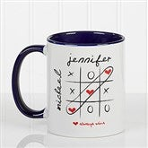 Love Always Wins! Personalized Coffee Mug 11oz.- Blue - 9571-BL