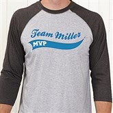 Father & Son Team Personalized Adult Baseball T-Shirt - 9576ABT