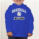14 Sports Personalized Toddler Hooded Sweatshirt - 9580-CTHS