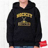 14 Sports Black Hooded Sweatshirt - Youth - 9582-Y