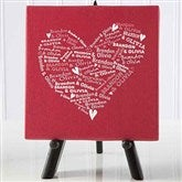 Our Heart of Love Personalized Canvas Print-5½ x 5½ - 9584-XS