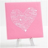 Our Heart of Love Personalized Canvas Print-8