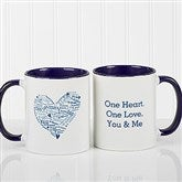 Heart of Love Personalized Coffee Mug- 11oz.- Blue - 9585-BL