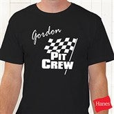 Pit Crew Adult Black T-Shirt - 9587T