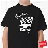 Pit Crew Youth Black T-Shirt - 9587YT
