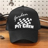 Pit Crew© Adult Black Baseball Cap - 9587AC