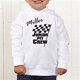 Pit Crew Personalized Toddler Hooded Sweatshirt - 9587-CTHS