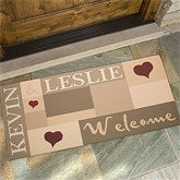 Loving Hearts Personalized Oversized Doormat- 24x48 - 9595-O