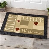 Loving Hearts Personalized Doormat- 20x35 - 9595-M