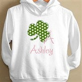 Shamrock Initial© Toddler Hooded Sweatshirt - 9627-THS
