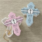 May God Bless Me Personalized Cross Box - 9647