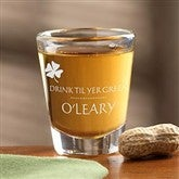 Drink Til Yer Green Personalized Shot Glass - 9670